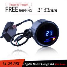 """Digital Turbo Boost Gauge Kit W/ Sensor for Auto Car 52mm 2"""" LCD -14~29 PSI AEM"""