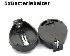 5 Stück Knopfzellen Batteriehalter Adapter schwarz für CR2032 3V
