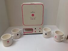 Vintage Set Of 4 Collectible Hallmark Playing Card Suit Mugs
