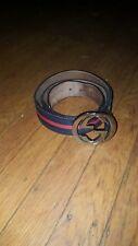 Gucci Interlocking G belt Blue Red Size 90/36