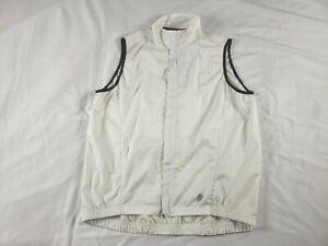 Hincapie XL Cycling Vest White Windbreaker Full zip