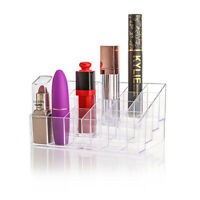 24-40 Grid Lipstick Makeup Stand Display Holder Case Cosmetic Organizer US Stock