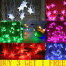 Twinkling Crystal LED Stars Fairy String Lights Xmas Wedding Party Decor Lamp RO