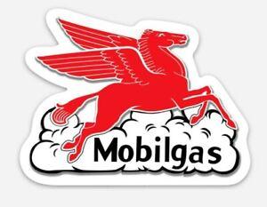 Mobil Gas MAGNET - Vintage Gasoline Exxon Mobilgas Pegasus Hot Rod Car Show