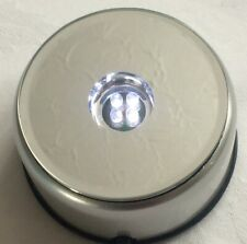 LED Light Up Display Stand - Round - Ideal for Crystal/Glass Ornaments. #OSW
