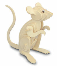 Mouse 3D Wooden Modelling Kit Model Jigsaw Puzzle Mice Quay M001