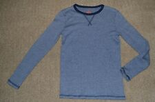 H&M Basic Girls Boys 10-12 Long Sleeved T-shirt Organic Cotton Navy Blue Stripe