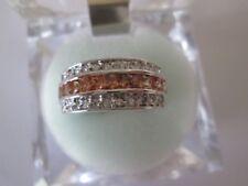 White Gold Filled Champagne Rhinestone Ring