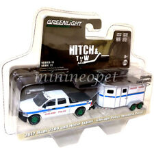 GREENLIGHT 32110 D 2017 DODGE RAM PICK UP & TRAILER CHICAGO POLICE 1/64 CHASE