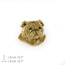 Englische Bulldogge Kopf, Anstecker Art Dog, Limited Edition CH