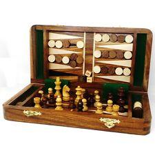 Schachbrett und Backgammon in einem Naturholz mit Ararat Motiv aus Armenien.