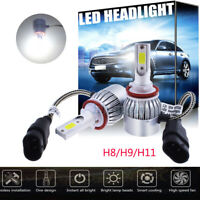 2x For Audi A4 Convertible (B6, B7) 2002-2009 Front H11 White LED Headlight Bulb
