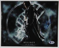 Ron Perlman Hellboy signed autograph photo 8 x 10 BAS COA Beckett