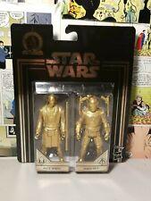 "Mace & Jango Fett - Sealed 3.75"" figure - Star Wars - Gold Commemorative Edition"