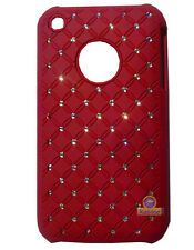 Coque rigide avec strass coloris rouge Apple iPhone 3G/3GS