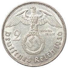 2 REICHSMARK 1936 E HINDENBURG GERMANIA ARGENTO Spl/XF #5892