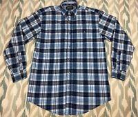 Wrangler Twenty X Men's Button Down Long Sleeve Classic Shirt Size M Medium