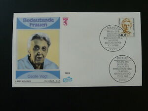 medicine neurology Cecile Vogt famous woman FDC 1989 Berlin Germany 83957