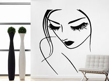 Lashes Makeup Wall Decal Lips Eyes Vinyl Sticker Decals Woman Beauty Salon NV58