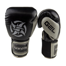 Shinobi Stealth Boxing Gloves - Black/Grey - 16oz
