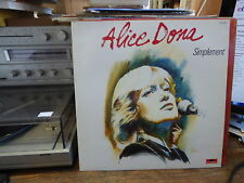 Alice Dona : simplement - polydor  817 839-1
