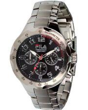 Fila Uhren Modell Traveller FA-0795-34 Herren Chronograph Quarzuhr Edelstahlband