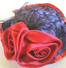 Purple and Red Sachet in the form of a Hat  Gift for Red Hat Society  Christmas