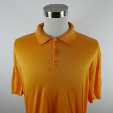Bugatchi Uomo Mens Mercerized Egyptian Cotton SS Golden Yellow Polo Shirt XL