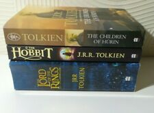 J.R.R. TOLKIEN PAPERBACK BUNDLE THE LORD OF THE RINGS THE HOBBIT CHILDREN HURIN
