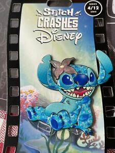 Stitch Crashes Disney Little Mermaid Ariel 4/12 Pin (B)