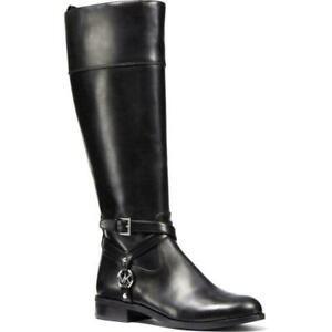 NIB MICHAEL Michael Kors Womens Preston Black Riding Boots 5.5 M