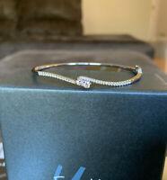 Authentic Ever Us 1/2 C Natural Diamond Bracelet Bangle 14k White Gold Hinged