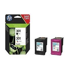 HP 301 Cartucho de Tinta - Negro y Tricolor (Pack of 2)
