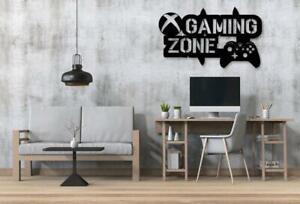 Gaming Zone Wall Stickers Controller Gamer Vinyl Decals Kids Bedroom