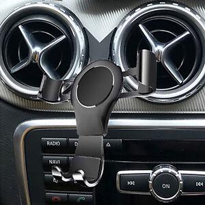 Black Car Air Vent Phone Holder Stand For Mercedes Benz GLA CLA A-Class B- Class