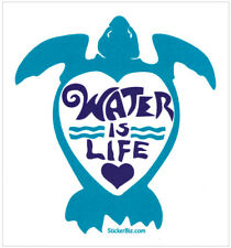 Water Is Life - Small Bumper Sticker / Decal