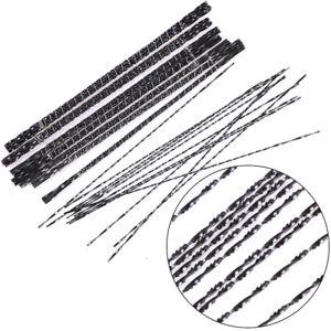 12pcs 130mm Scroll Jig Saw Blades Spiral Teeth Metal Wood Cutting Craft Tool`