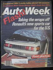 AUTOWEEK Magazine November 19, 1984 Lancia Mid-Engine Quattro Killer Renault Car