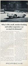1965 Porsche 911 Convertible PRINT AD