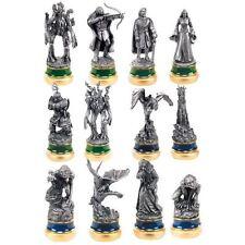 Las dos torres 12 Carbono Carácter Paquete-Piezas de ajedrez señor de los anillos figuras Noble