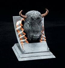 "Buffalo, 4"" tall Resin School Mascot Trophy, Free Engraving"