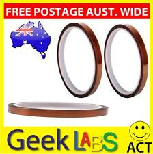 10mm x 30mHigh Temperature Kapton Polyimide Sticky Adhesive Tape Heat Resistant