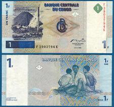 KONGO / CONGO 1 Franc 1997  VF  P.85