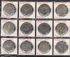 Canada 1973 Olympic Trust Of Canada 12 Cast Medallions Athletics Handball