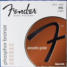 Fender 60L Acoustic Phosphor Bronze Guitar Strings, MPN 073-0060-403