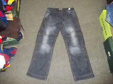 """New Look Worker Jeans Ladies Waist 32"""" Leg 30"""" Faded Dark Blue Ladies Jeans"""