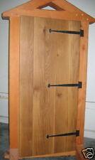 Wooden Door, Oak Board & Batten, natural finish, hinges included