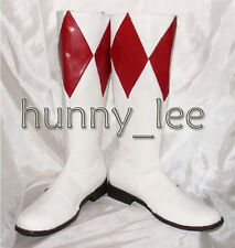 Red Ranger Cosplay Shoes Boots Custom-Made