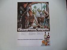 advertising Pubblicità 1971 CINZANO ROSSO e BIANCO