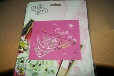 1 LINES AND DOTS TEMPLATE CHRISTMAS SLEIGH  10X9 CM NEW NEW
